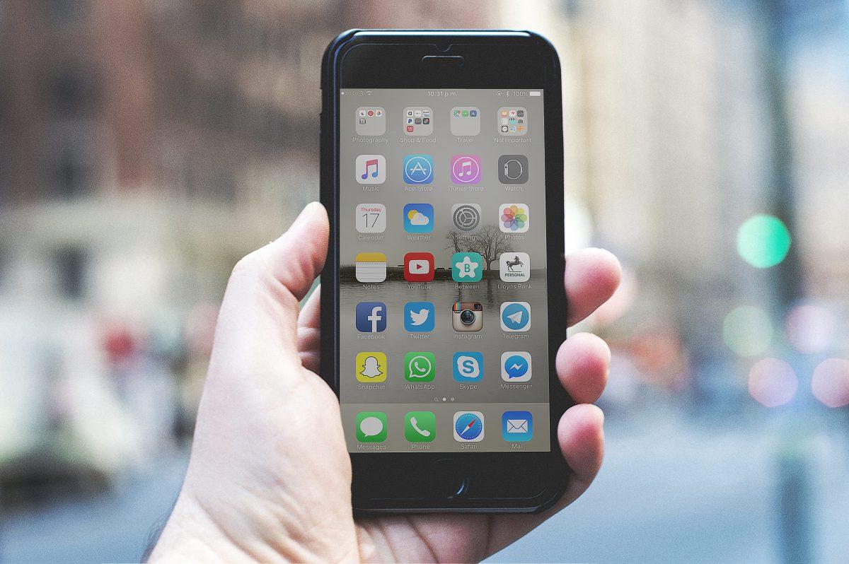 アプリの入ったスマートフォン