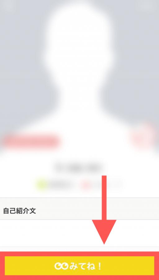Omiai 異性 プロフィール画面