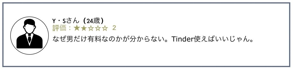 タップルの評判・口コミ1