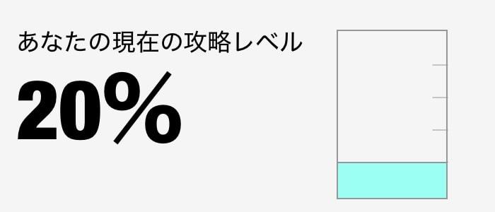 攻略レベル 20%
