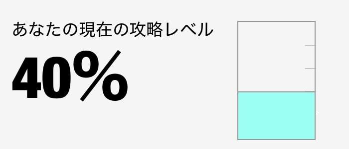 攻略レベル 40%